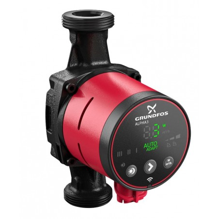 Grundfos ALPHA3 cirkulationspumpe 25-40. 130 mm.