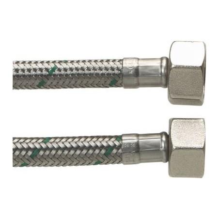 """Neoperl Softpex tilslutningsslange. 1500 mm - 1/2"""" x 1/2"""" Rustfri flet."""