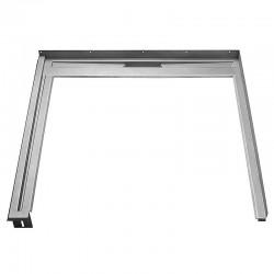 Unidrain Glassline fast modul. B 80 cm. D 120 cm - højre