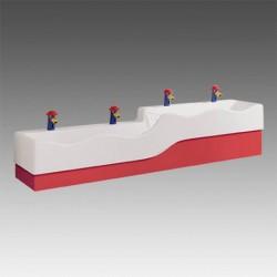 Ifø børnehåndvaske i flere niveauer 1800x450 mm
