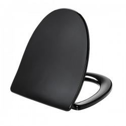 Pressalit Sign, wc sæde i hårdt plast - Sort - m/Softclose