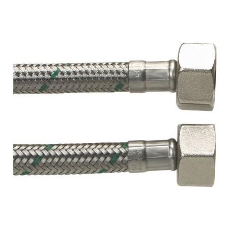 """Neoperl Softpex tilslutningsslange. 400 mm - 1/2"""" x 1/2"""" Rustfri flet."""
