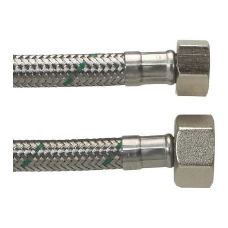 """Neoperl Softpex tilslutningsslange. 400 mm - 1/2"""" x 3/8"""" Rustfri flet."""