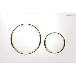 Geberit Sigma20 betjeningsplade - Hvid/guld