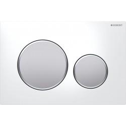 Geberit Sigma20 betjeningsplade - Hvid/matkrom