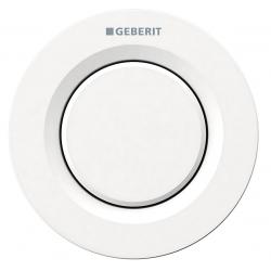 Geberit Omega 01 remote trykknap - 1-skyl - Hvid - Til mur