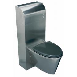 Ifø Public Steel WC-modul, rustfrit, dobbeltskyl