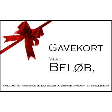 Gavekort - Print selv