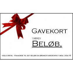 Gavekort - Tilsendt