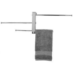 Hefe Håndklædeholder til væg, 3 justerbare stænger