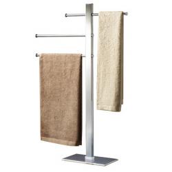 Hefe Håndklædeholder gulvmodel, med 3 justerbare stænger