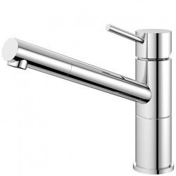 Nivito Flow køkkenarmatur - Blankt stål