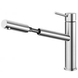 Nivito Extended køkkenarmatur - Børstet stål - udtræksslange