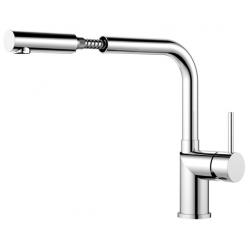Nivito Extended køkkenarmatur - Blankt stål - udtræksslange