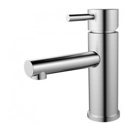 Nivito Rhythm håndvaskarmatur - Børstet stål - lige tud