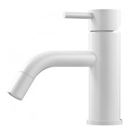 Nivito Rhythm håndvaskarmatur - Hvid - buet tud