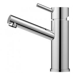 Nivito Flow håndvaskarmatur - Blankt stål - kort model
