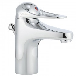 FMM 9000E II håndvaskarmatur, krom, m/løft-op bundventil.