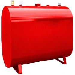 Oval olietank 1200 liter rød - C1