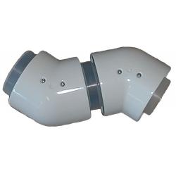 Vaillant bøjning 80/125 mm. 45° til aftræk