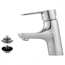 Mora Cera håndvaskarmatur, krom, m/bundventil