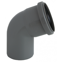 Nicoll HTP afløbsbøjning, 67gr. Ø75, grå.