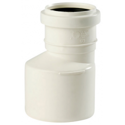 Uponor PP reduktion 75 mm /32 mm, hvid