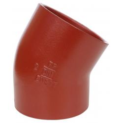 Düker SML Bøjning 30°. DN50, 100 mm, rød