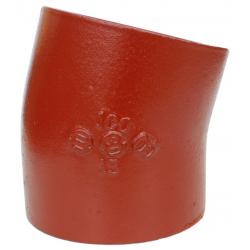 Düker SML Bøjning 15°. DN50, 70 mm, rød