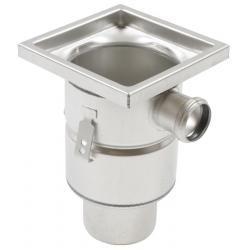 Blücher Industrigulvafløb lodret Ø110 mm udløb og 1 sideindløb. Til beton & fliser