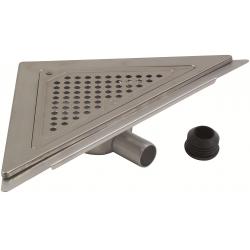 Blücher MINI gulvafløb med vandret Ø32/40 mm udløb, trekantet samt smøremembran. Til beton & fliser.