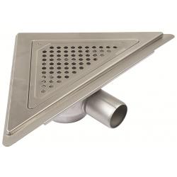 Blücher JUST gulvafløb med vandret Ø50 mm udløb, trekantet samt smøremembran. Til beton & fliser.