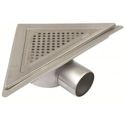 Blücher JUST gulvafløb med vandret Ø75 mm udløb, trekantet samt smøremembran. Til beton & fliser.