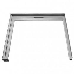 Unidrain Glassline fast modul. B 90 cm. D 100 cm - venstre