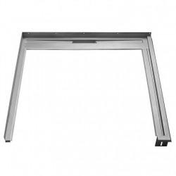 Unidrain Glassline fast modul. B 90 cm. D 90 cm - højre