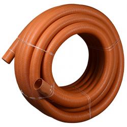 Wavin drænrør 58/50mm, 50m/rll. 1,5x5mm slids, brun