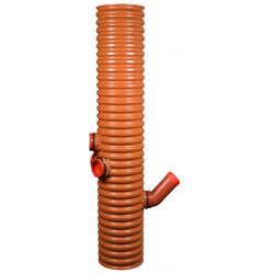 Wavin central tagnedløbsbrønd 315/110x1750mm, med vandlås, 35 ltr. sandfang