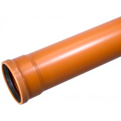 Wavin PVC kloakrør 200x6000mm SN4 EN13476