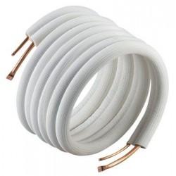 isolerede kølerør Uden flange og omløber 1/4 inch x 3/8 inch . Passer til de fleste varmepumper op til 9000 BTU. Lgd. A 20 mtr.
