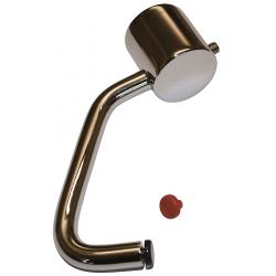 Børma Køllegreb 80 mm metalgreb med rød/blå mærkeknap