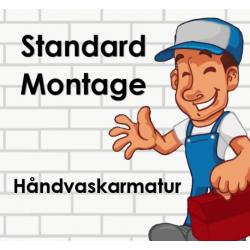 Montering af håndvaskarmatur* - Standard installation