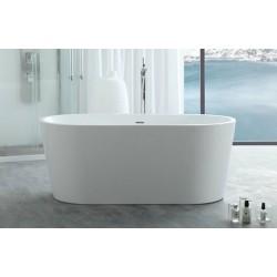 TopDesign fritstående ovalt badekar 135 X 75 cm