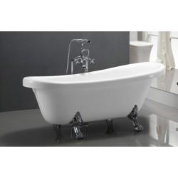 TopDesign fritstående badekar med løvefod 170 X 80 cm