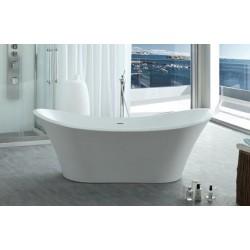 TopDesign fritstående ovalt badekar 180 X 80 cm