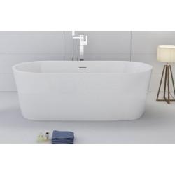 TopDesign fritstående ovalt badekar 170 X 80 cm