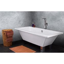 TopDesign fritstående firkantet badekar 170 X 80 cm