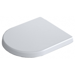 Alterna Dayly'O Compact sæde 420x360x25mm. Soft close. Hvid plast
