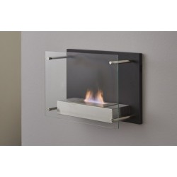 Topdesign væghængt Biopejs med glasfront