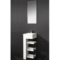Topdesign møbelsæt med spejl - Hvid højgans