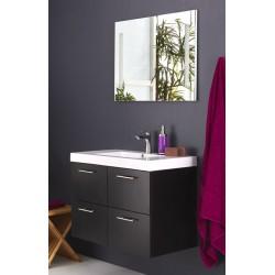 Topdesign møbelpakke med spejl - Hvid højgans